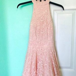 Elegant sparkly pink puffy party/prom/ dress